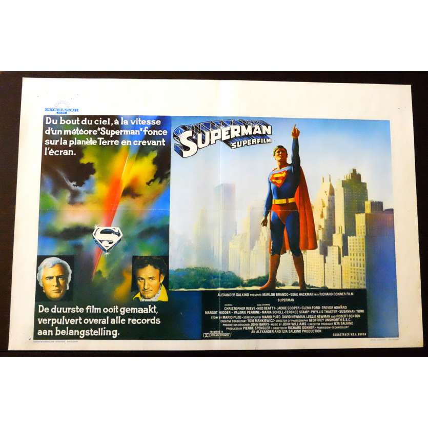 SUPERMAN Belgian Movie poster 14x22 - 1978 - Richard Donner, Christopher Reeve