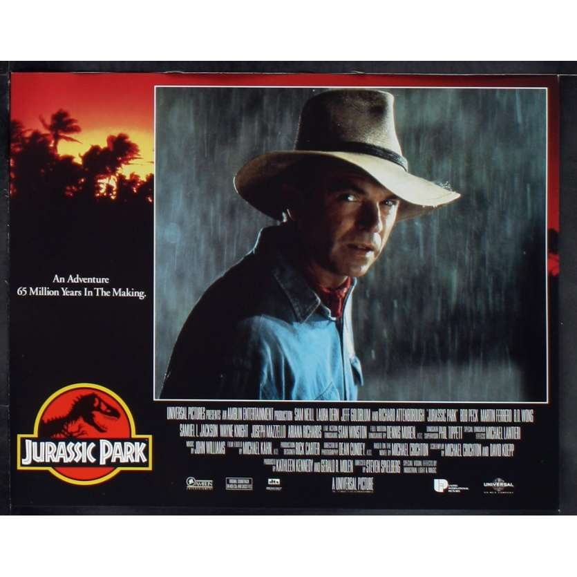JURASSIC PARK Photo de film N8 28x36 - 1993 - Sam Neil, Steven Spielberg