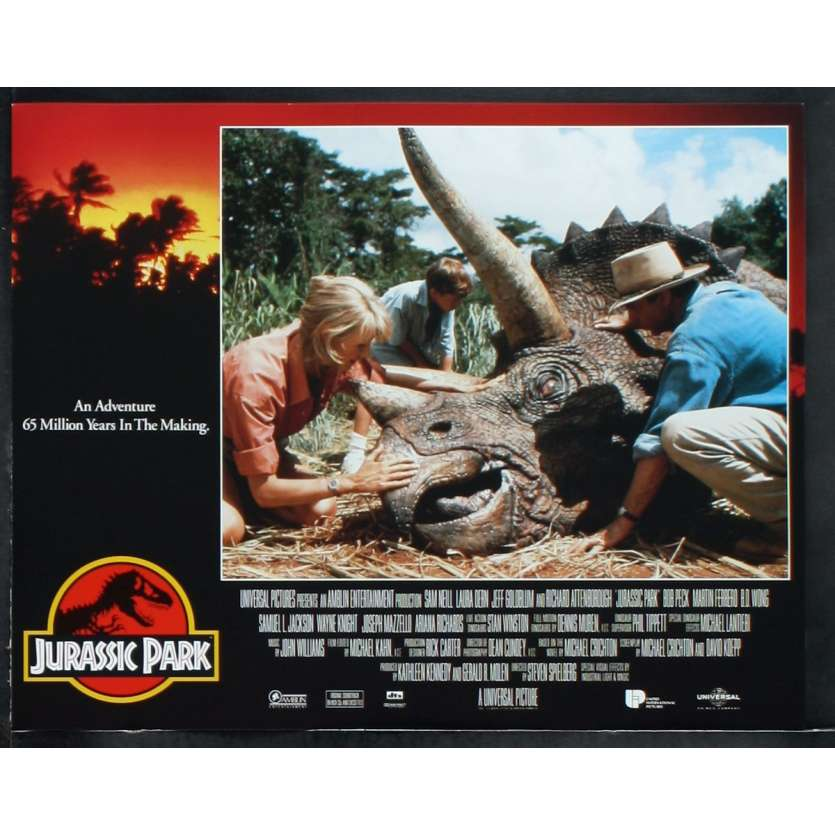JURASSIC PARK US Lobby Card N6 11x14 - 1993 - Steven Spielberg, Sam Neil