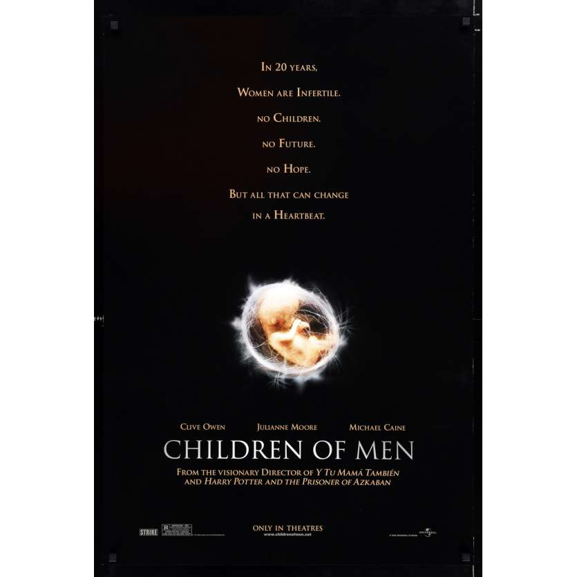 CHILDREN OF MEN US Movie Poster 29x41 - 2006 - Alfonso Cuaron, Clive Owens