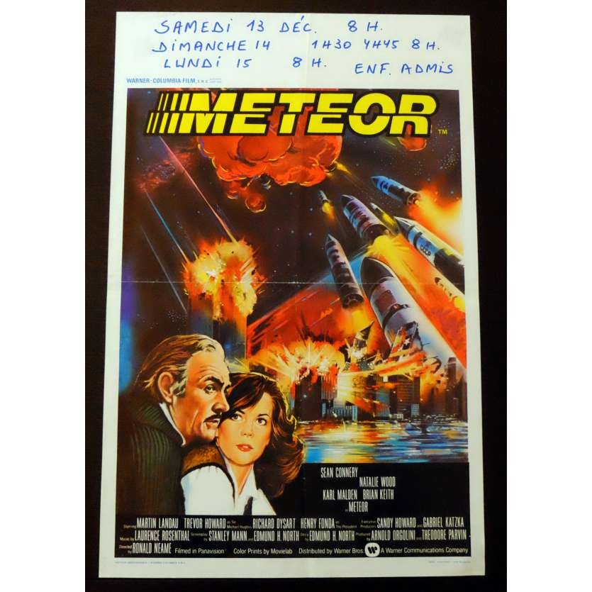 METEOR Belgian Movie poster 14x22 - 1979 - Ronald Neame, Sean Connery