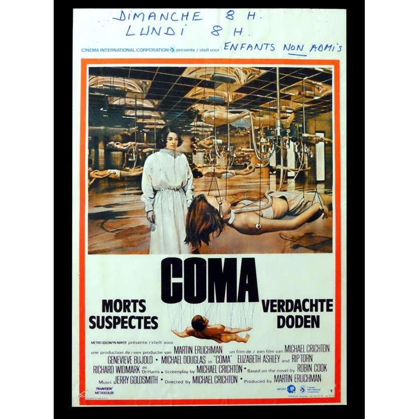 COMA Belgian Movie poster 14x22 - 1978 - Michael Crichton, Michael Douglas