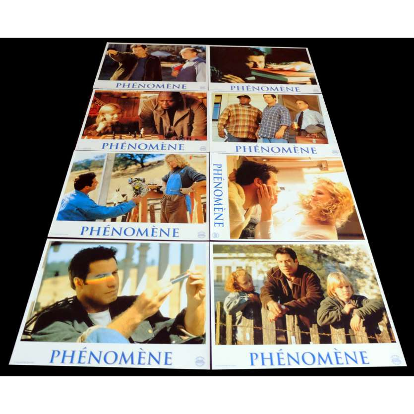PHENOMENON French Lobby Cards x8 9x12 - 1996 - Jon Turteltaub, John Travolta