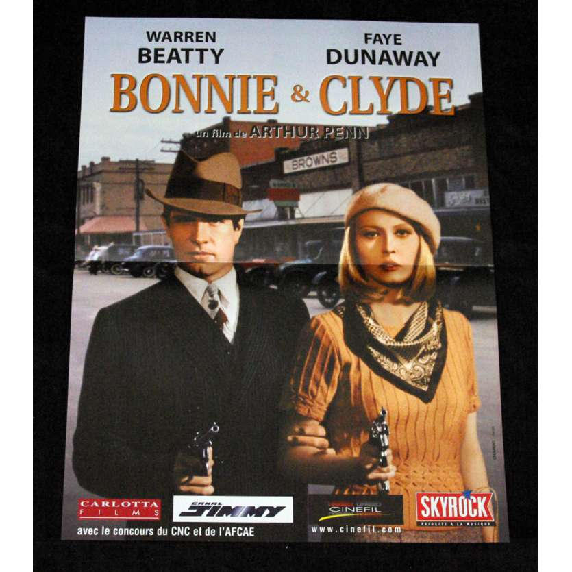BONNIE & CLYDE Movie Poster - Original French One Panel 15x21