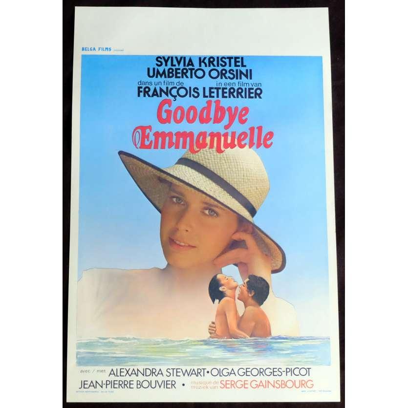 GOODBYE EMMANUELLE Belgian Movie Poster 14x21 - 1977 - François leterrier, Sylvia Kristel