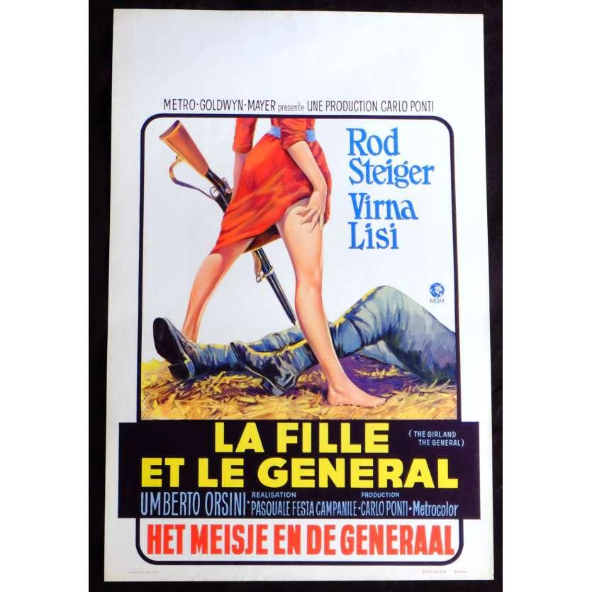 LA FILLE ET LE GENERAL Affiche de film 35x55 - 1967 - Virna Lisi, Pasquale Festa