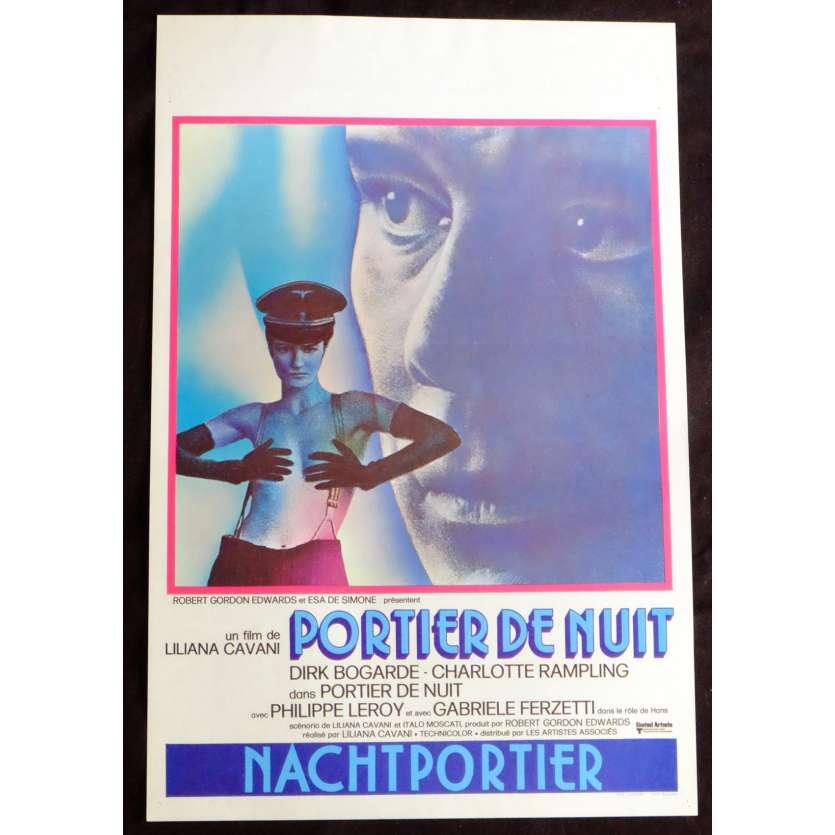 NIGHT PORTER Belgian Movie Poster 14x21 - 1974 - Liliana Cavani, Dirk Bogarde