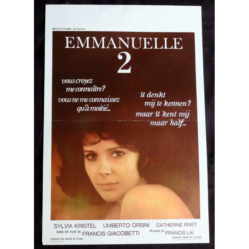 EMMANUELLE 2 Belgian Movie Poster 14x21 - 1975 - Francis Giacobetti, Sylvia Kristel