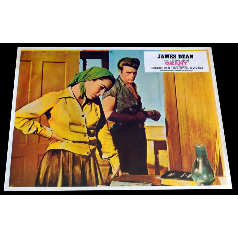 GIANT French Lobby Card 2 9x12 - R1970 - George Stevens, James Dean