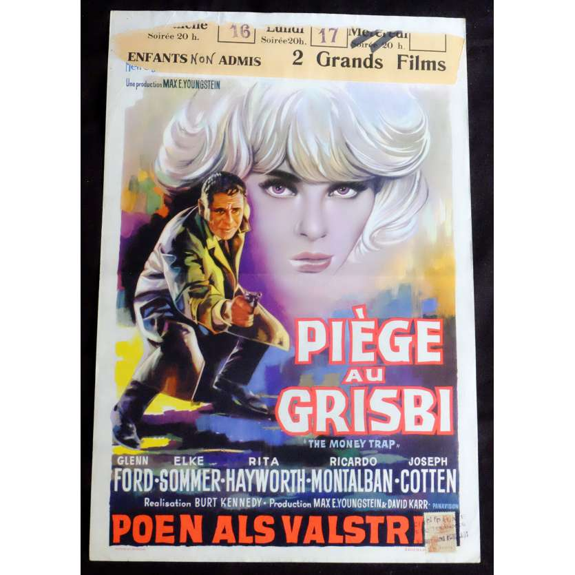 THE MONEY TRAP Belgian Movie Poster 14x22 - 1965 - Burt Kennedy, Glenn Ford