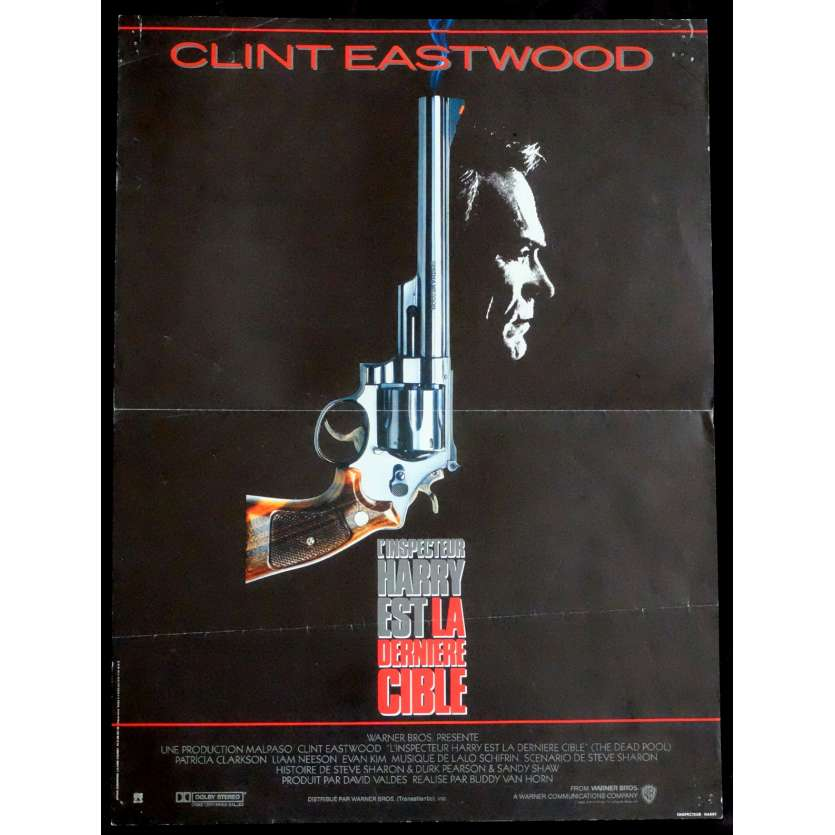 THE DEAD POOL French Movie Poster 15x21 - 1988 - Buddy von horne, Clint Eastwood