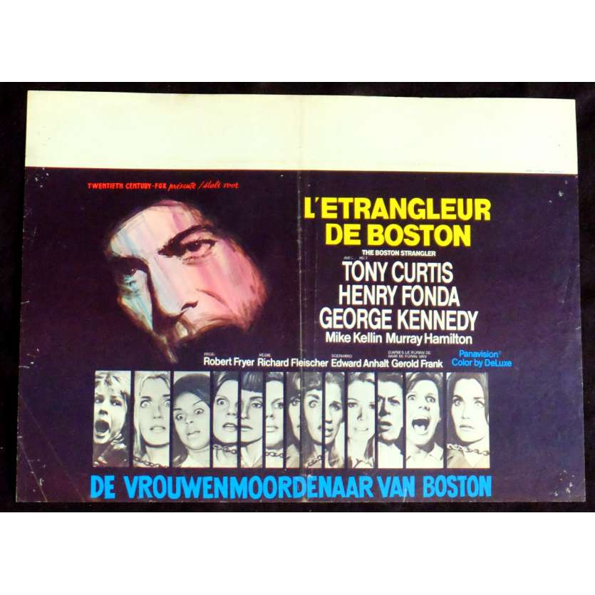 THE BOSTON STRANGLER Belgian Movie Poster 14x22 - 1968 - Richard Fleischer, Tony Curtis