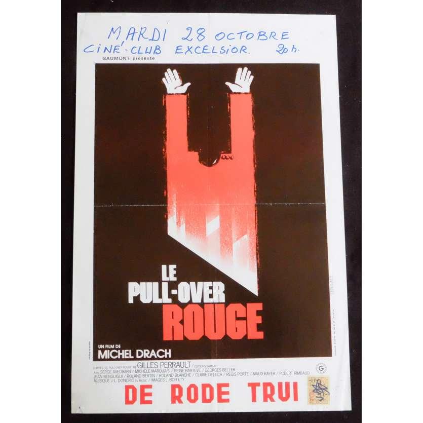 LE PULL OVER ROUGE Affiche de film 35X55 - 1979 - Serge Avedikian, Michel Drach