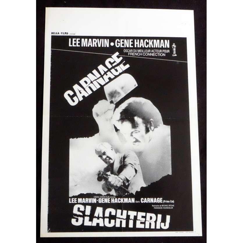 CARNAGE Affiche de film 35X55 - 1972 - Lee Marvin, Michael Ritchie