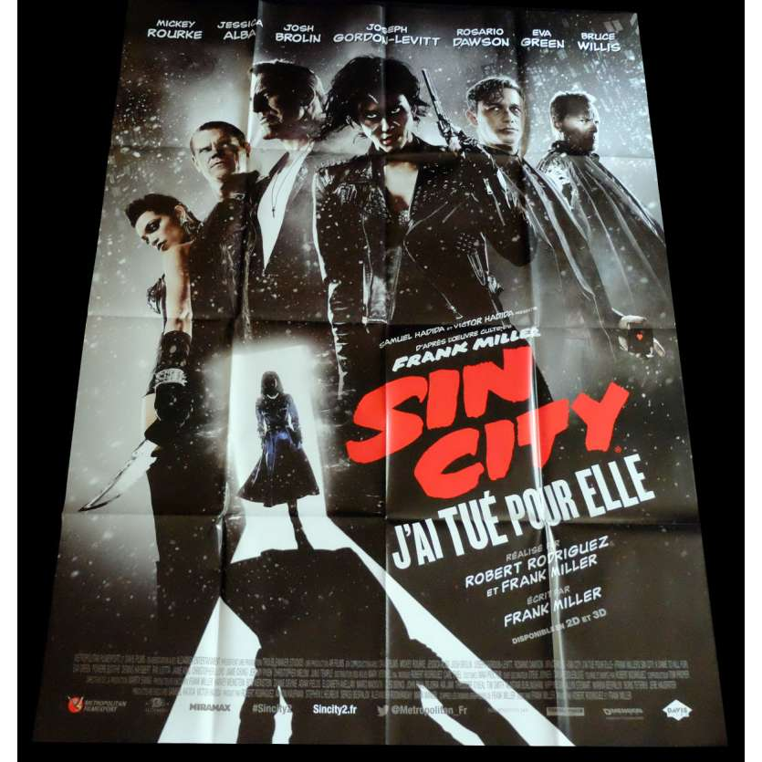 SIN CITY 2 French Movie Poster 47x63 - 2014 - Roberto Rodriguez, Mickey Rourke