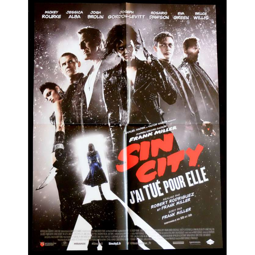 SIN CITY 2 French Movie Poster 15x21 - 2014 - Roberto Rodriguez, Mickey Rourke