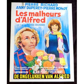 THE TROUBLES OF ALFRED Belgian Movie Poster 14x21 - 1972 - Pierre Richard, Pierre Richard, Annie Duperey