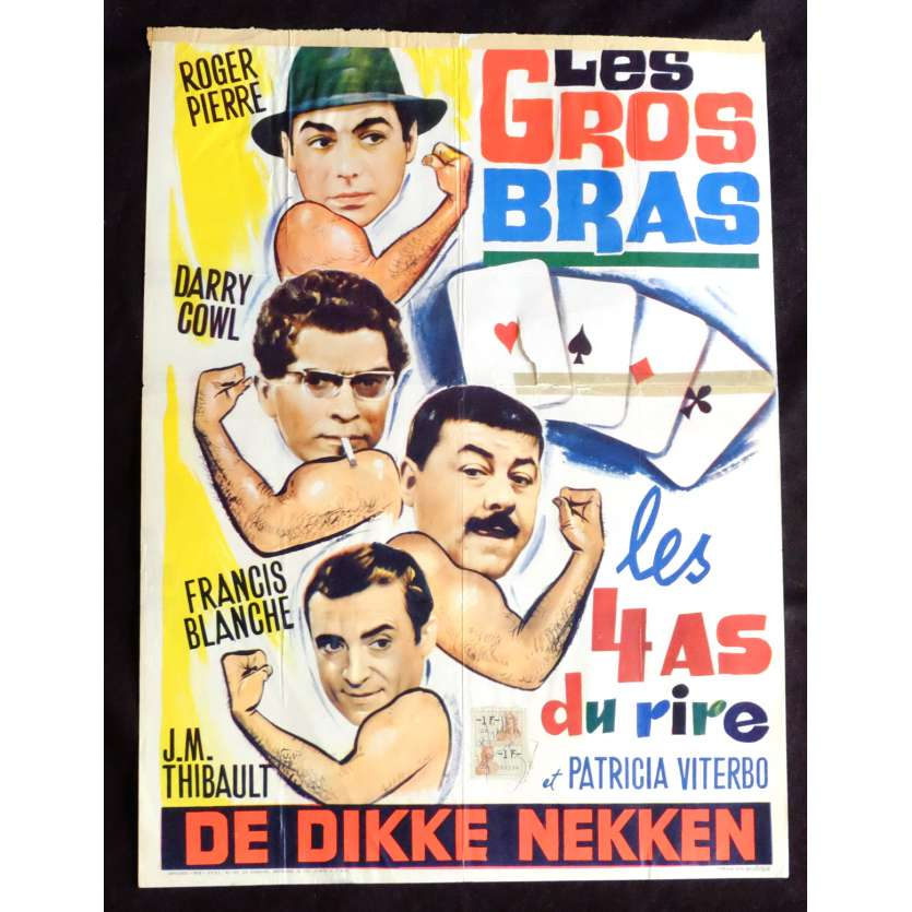 LES GROS BRAS Belgian Movie Poster 14x21 - 1964 - Francis Rigaud, Francis Blanche