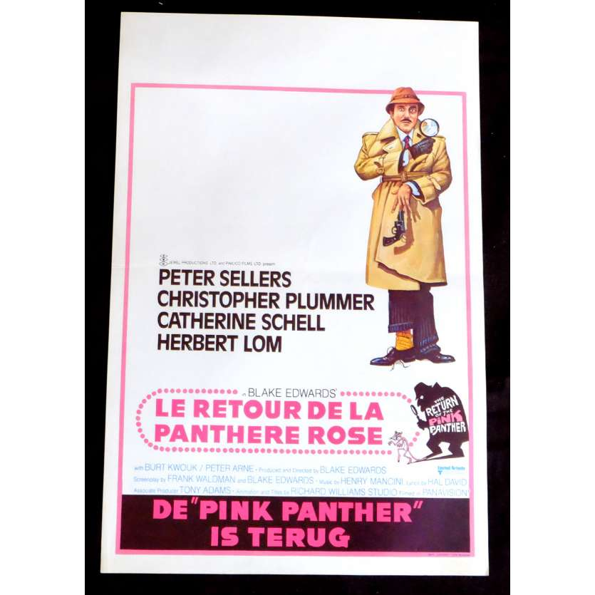THE RETURN OF THE PINK PANTHER Belgian Movie Poster 14x21 - 1975 - Blake Edwards, Peter Sellers