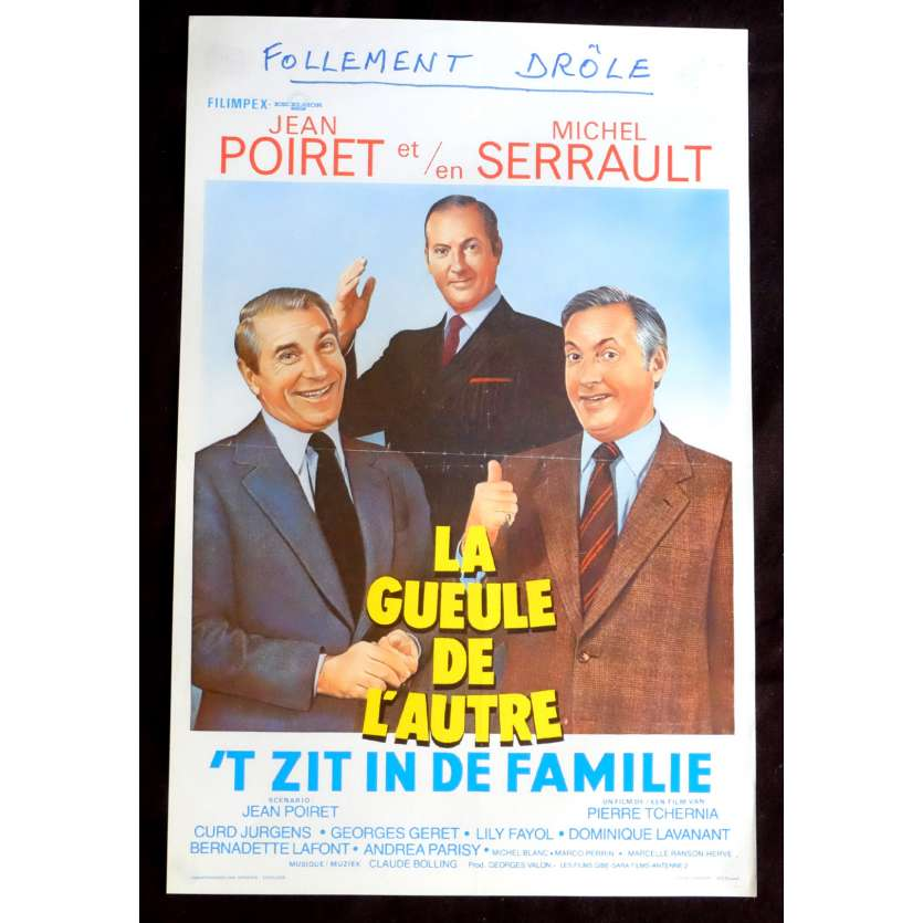 THE OTHER ONE'S MUG Belgian Movie Poster 14x21 - 1979 - Pierre Tchernia, Jean Poiret, Michel Serrault