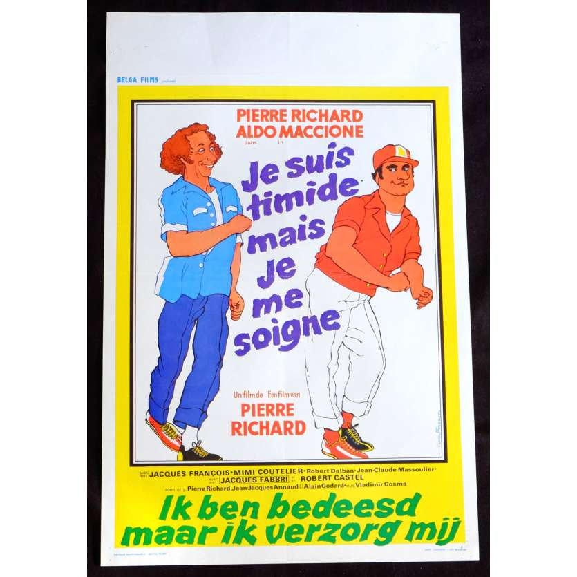TOO SHY TO TRY Belgian Movie Poster 14x21 - 1978 - Pierre Richard, Pierre Richard, Aldo Maccione