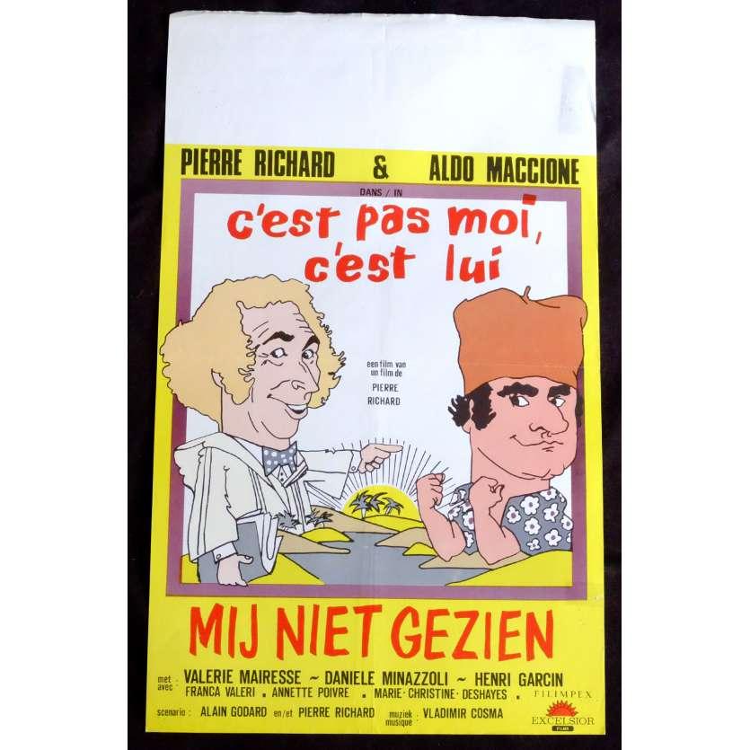 C'EST PAS MOI C'EST LUI Belgian Movie Poster 14x21 - 1981 - Pierre Richard, Pierre Richard, Aldo Maccione