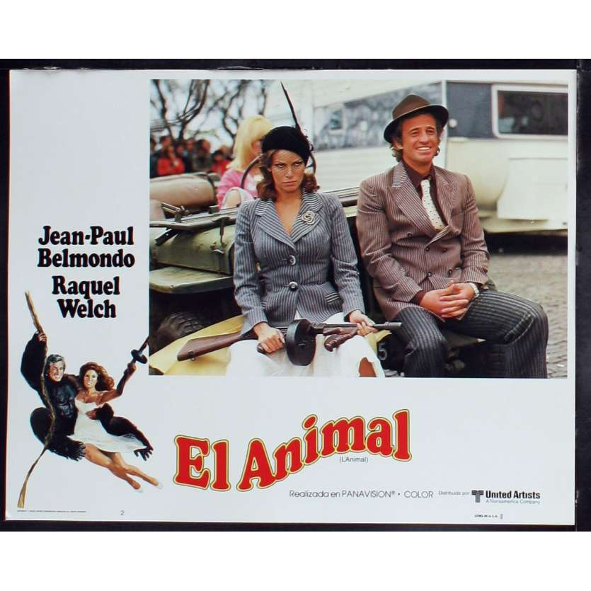 ANIMAL US Lobby Card 7 11x14 - 1977 - Claude Zidi, Jean-Paul Belmondo