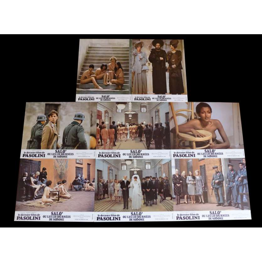 SALO French Lobby Cards x8 9x12 - 1975 - Pier Paolo Pasolini, Paolo Bonacelli