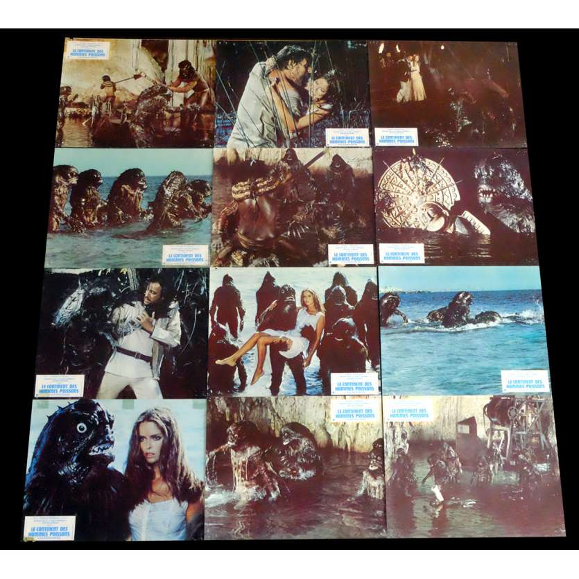 SCREAMERS French Lobby Cards x12 9x12 - 1979 - Sergio Martino, Barbara Bach