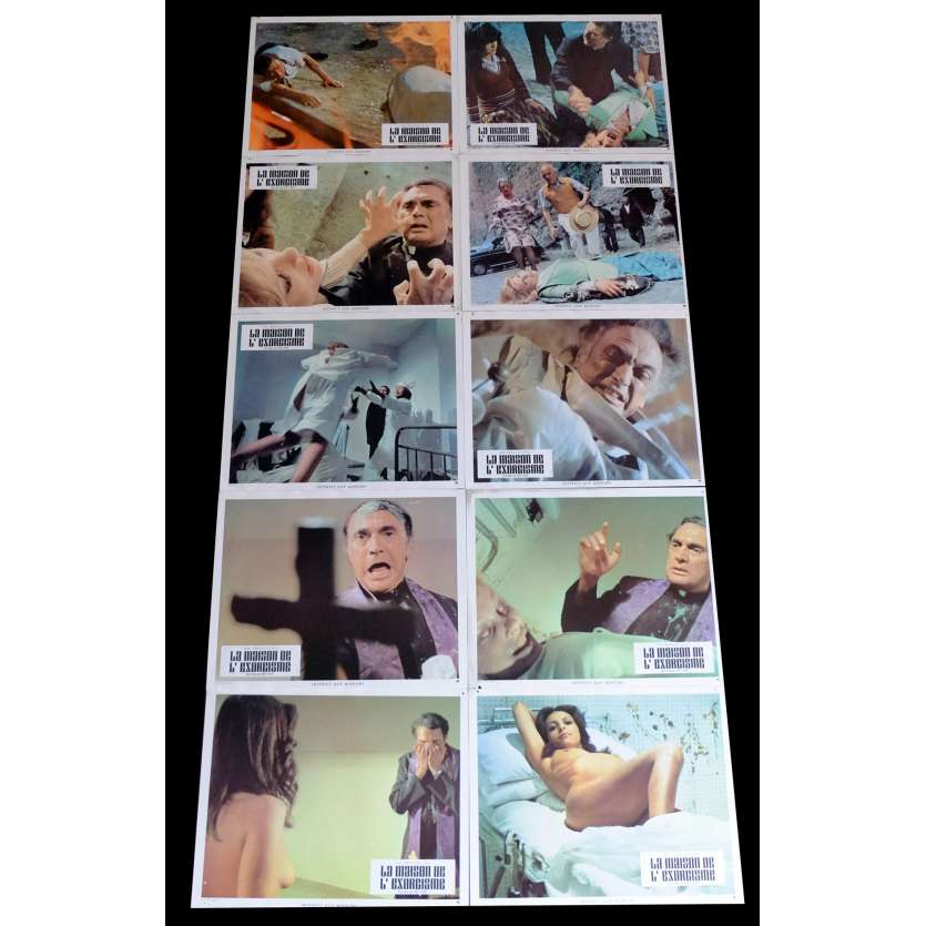THE HOUSE OF EXORCISM French Lobby Cards x10 9x12 - 1975 - Mario Bava, Telly Savalas