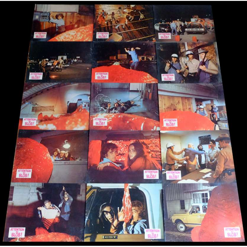 BEWARE! THE BLOB French Lobby Cards x15 9x12 - 1972 - Larry Hagman, Robert Walker Jr