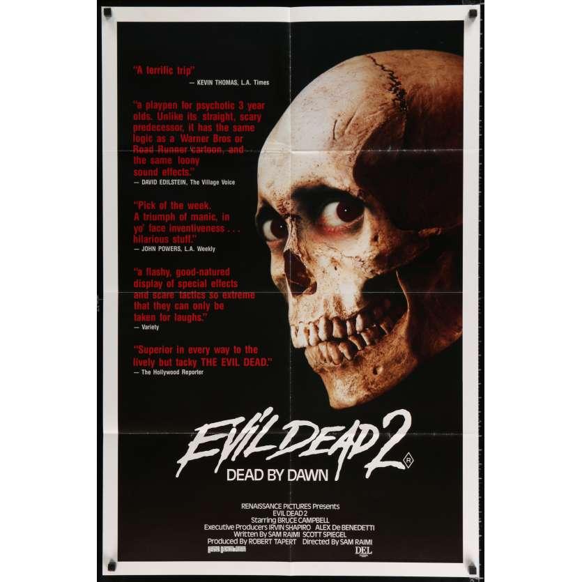 EVIL DEAD 2 Australian Movie Poster 27x40 - 1987 - Sam Raimi, Bruce Campbell