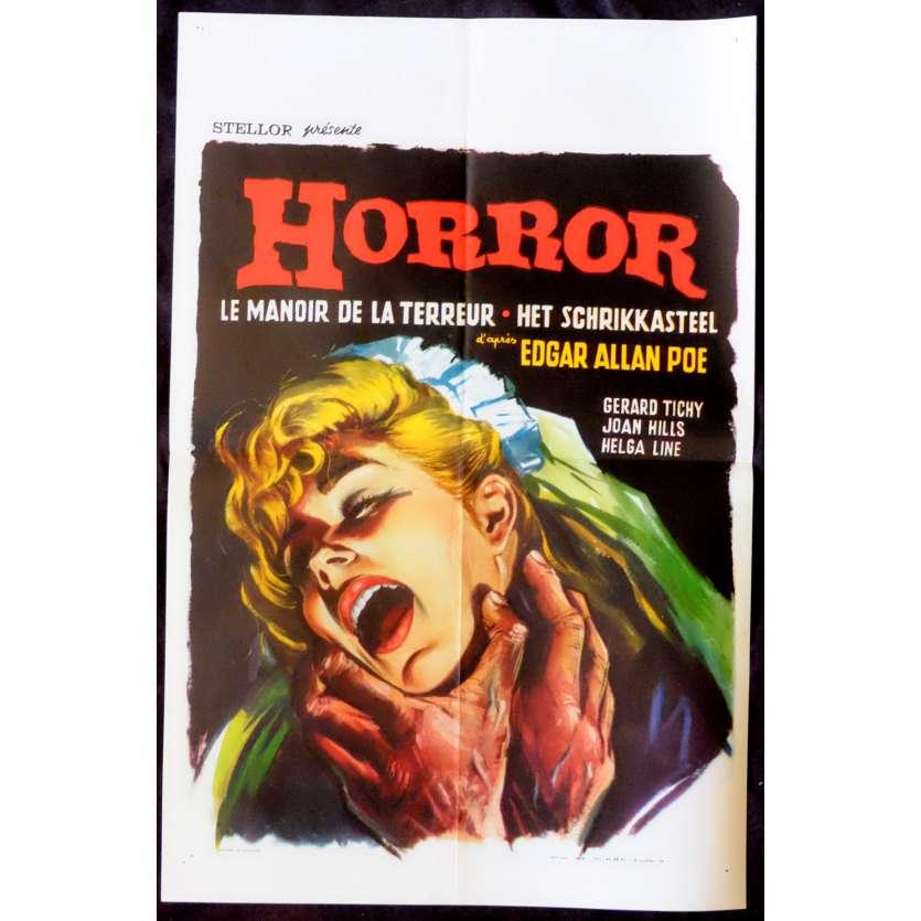 LE MANOIR DE LA TERREUR Affiche de film 35x55 - 1963 - Gérard Tichy, Alberto de Martino