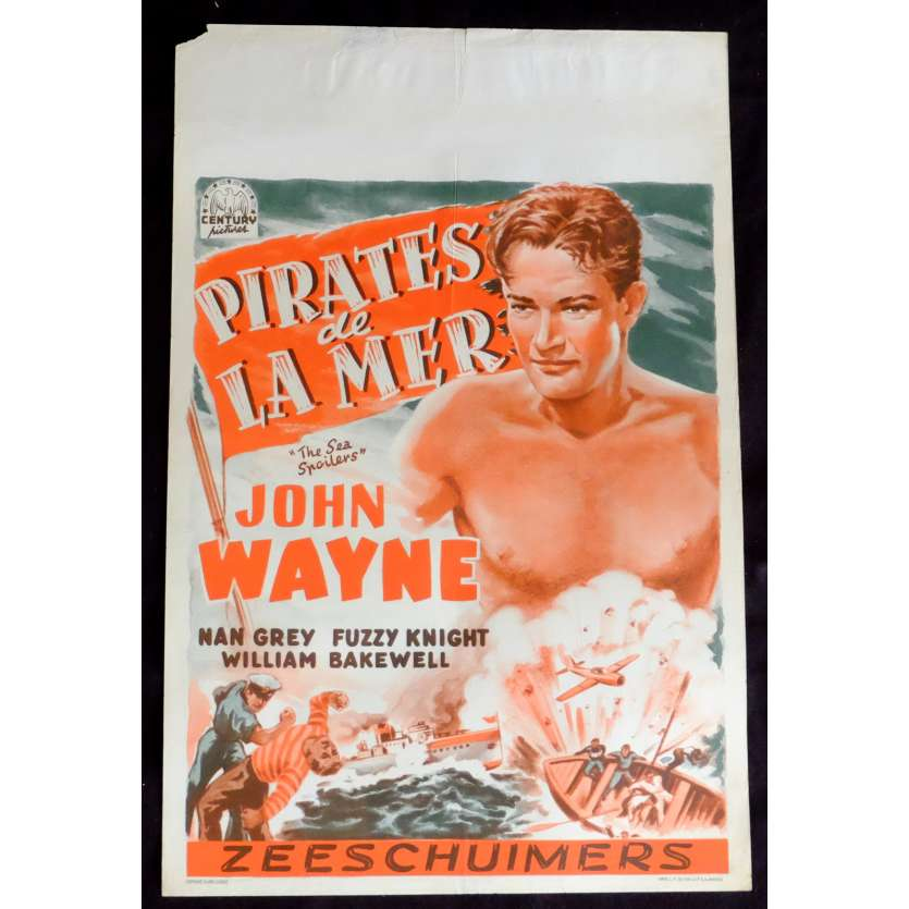 SEA SPOILERS Belgian Movie Poster 14x20 - 1936 - Franck Strayer, John Wayne