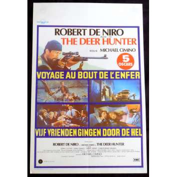DEER HUNTER Belgian Movie Poster 14x20 - 1981 - Michael Cimino, Robert de Niro
