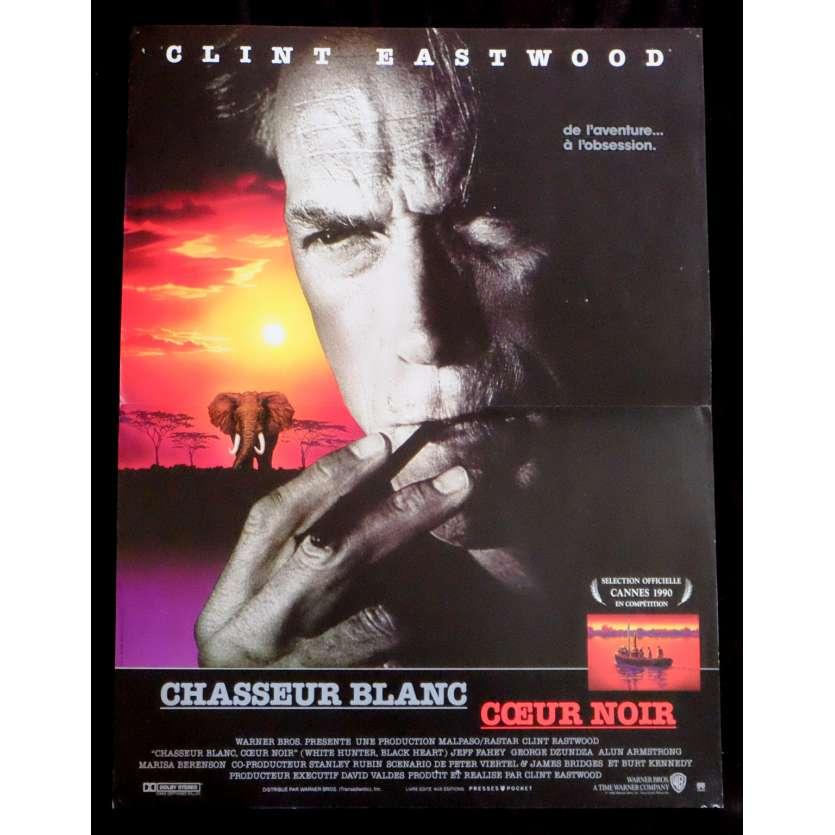 CHASSEUR BLANC CŒUR NOIR Affiche de film 40x60 - 1990 - Jeff Fahey, Clint Eastwood
