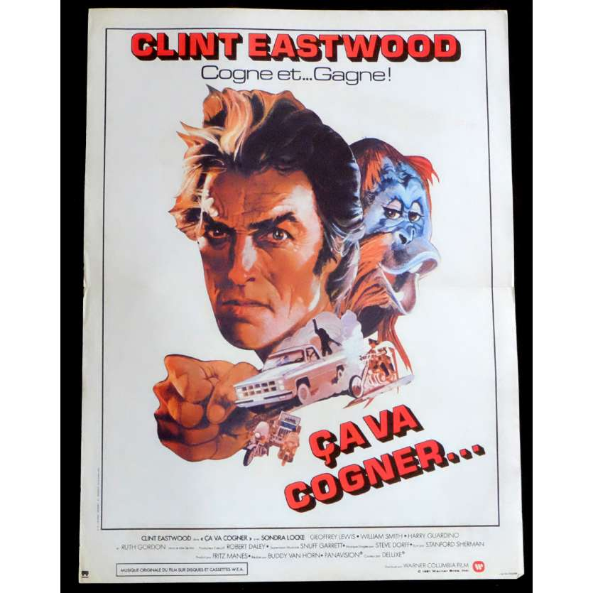 ANY WHICH WAY YOU CAN French Movie Poster 15x21 - 1980 - Buddy Van Horne, Clint Eastwood