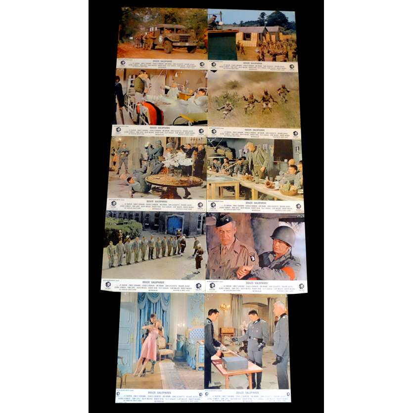 LES 12 SALOPARDS Photos de film x10 21x30 - 1967 - Lee Marvin, Robert Aldrich