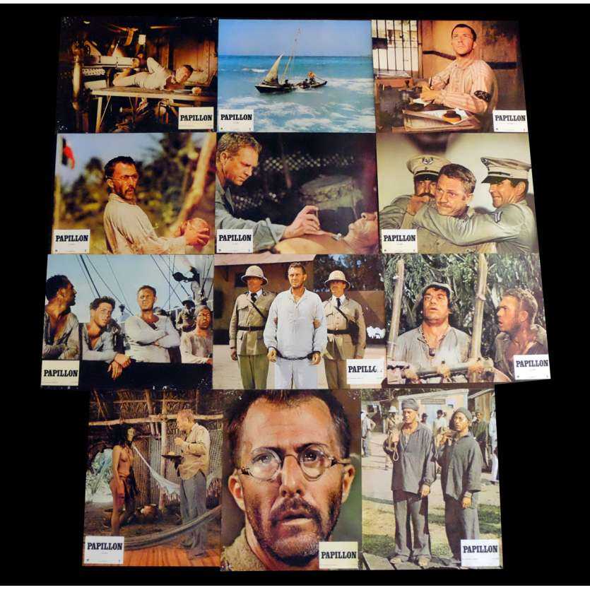 PAPILLON Photos de film 21x30 - 1973 - Steve McQueen, Franklin J. Schaffner