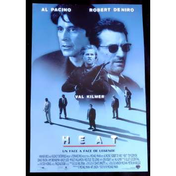 HEAT Belgian Movie Poster 14x21 - 1995 - Michael Mann, Robert de Niro, Al Pacino