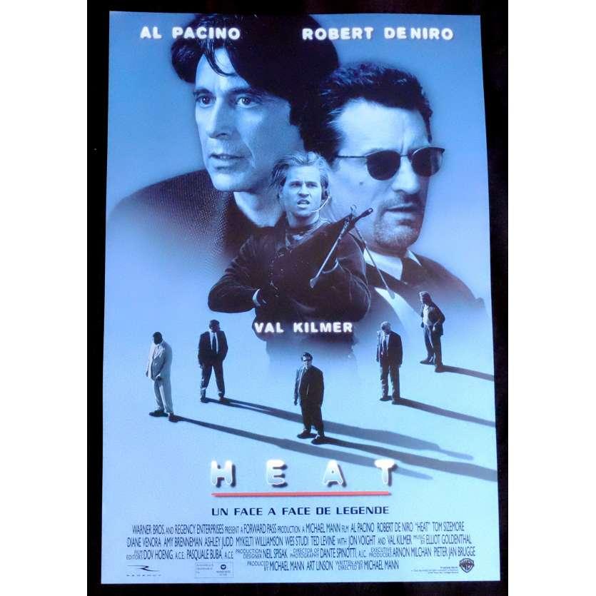 HEAT Affiche de film 35x60 - 1995 - Robert de Niro, Al Pacino, Michael Mann