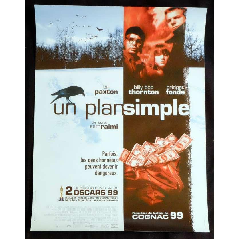 UN PLAN SIMPLE Affiche de film 40x60 - 1998 - Bill Paxton, Sam Raimi