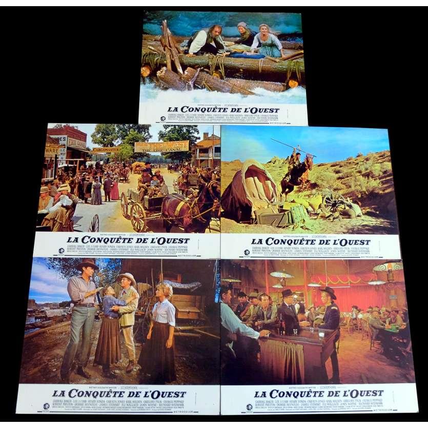 LA CONQUETE DE L'OUEST Photos de film x5 21x30 - 1968 - Clint Eastwood, Sergio Leone
