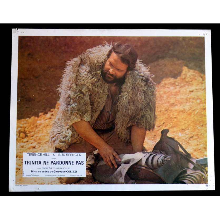 GOD FORGIVES I DON'T French Lobby Card N10 9x12 - 1972 - Giuseppe Colizzi, Terence Hill, Bud Spencer
