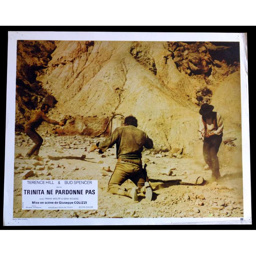 GOD FORGIVES I DON'T French Lobby Card N2 9x12 - 1972 - Giuseppe Colizzi, Terence Hill, Bud Spencer