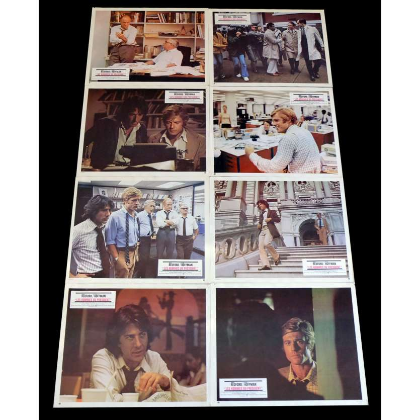 ALL THE PRESIDENT'S MEN French Lobby Cards x8 9x12 - 1976 - Alan J. Pakula, Dustin Hoffman
