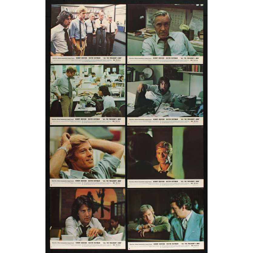 ALL THE PRESIDENT'S MEN US Lobby Cards x8 8x10 - 1976 - Alan J. Pakula, Dustin Hoffman