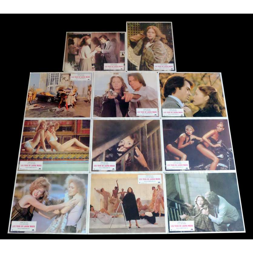 THE EYES OF LAURA MARS French Lobby Cards x11 9x12 - 1978 - Irvin Kershner, Faye Dunaway