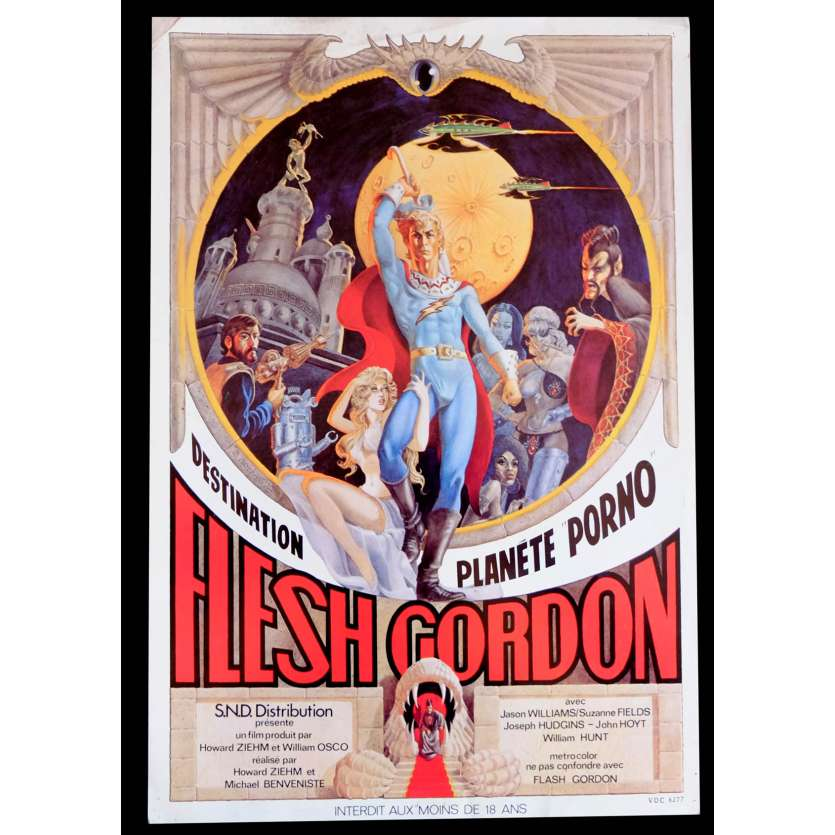 FLESH GORDON French Flyer 9X12 - 1974 - Michael Benveniste, Jason Williams