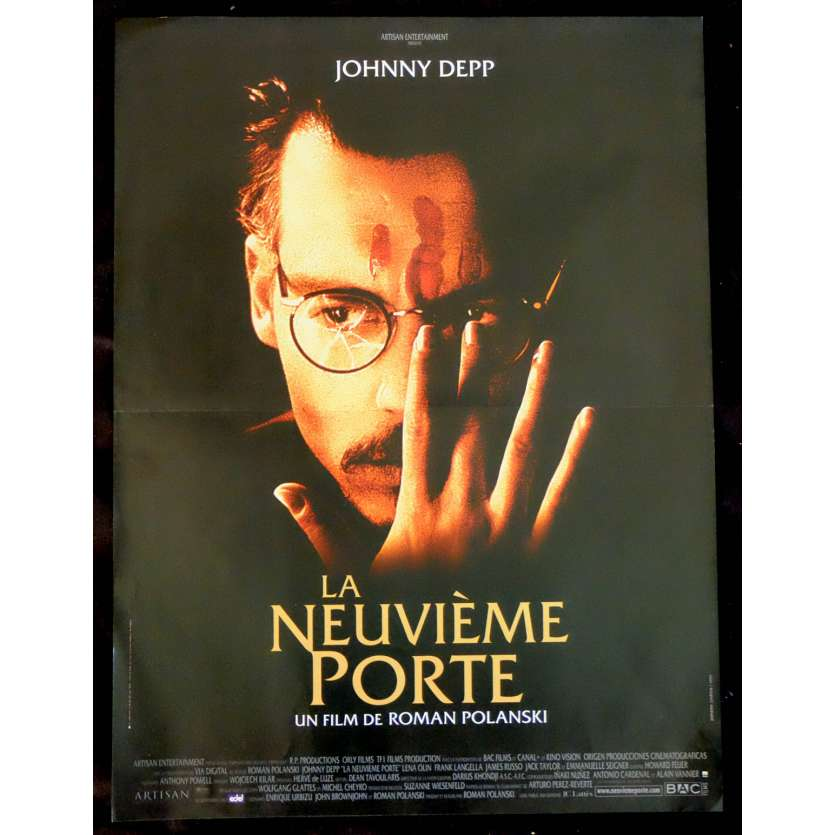 THE NINTH GATE French Movie Poster 15x21 - 1999 - Roman Polanski, Johnny Depp
